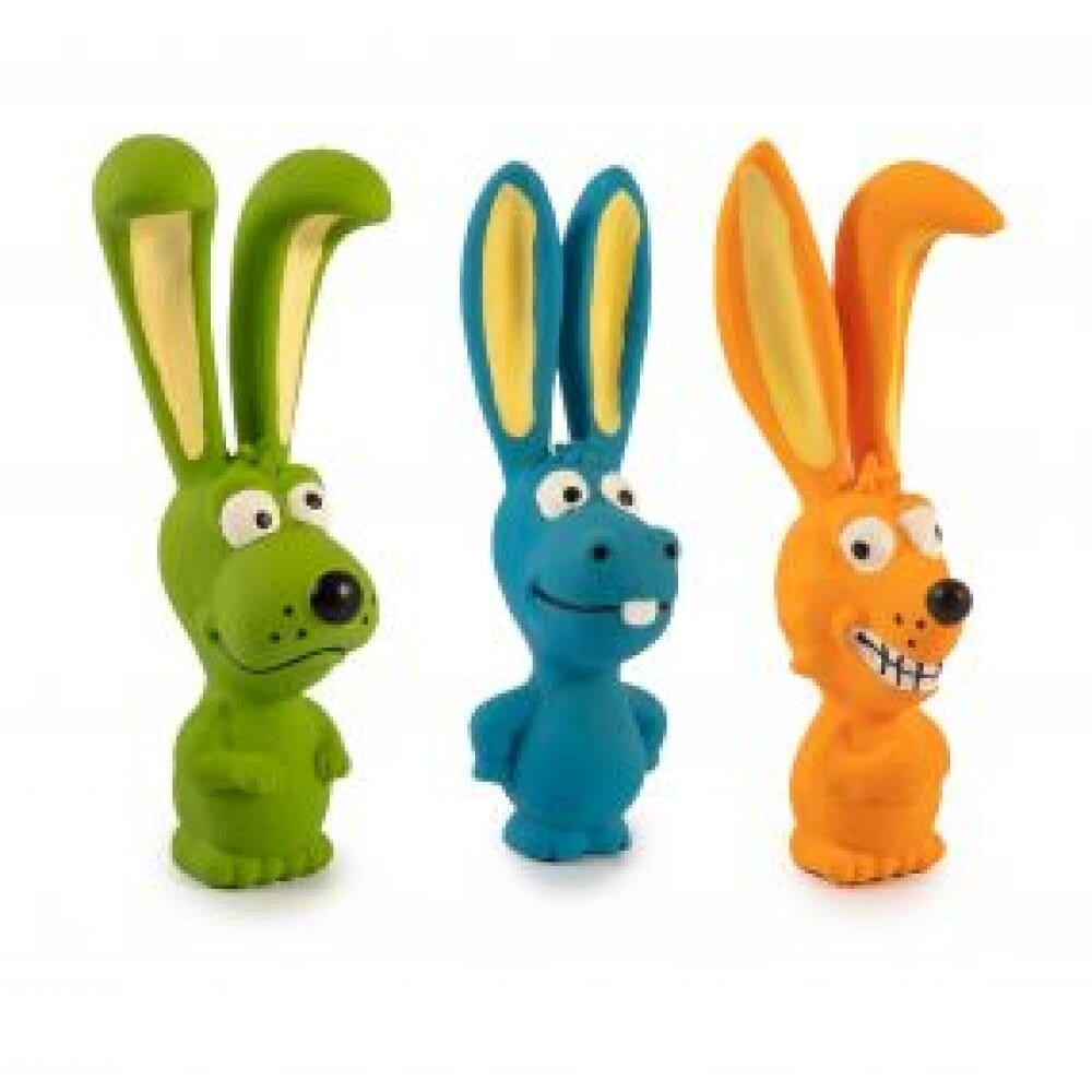 Big Ear Buddies, set of 3. Latex toy with squeaker