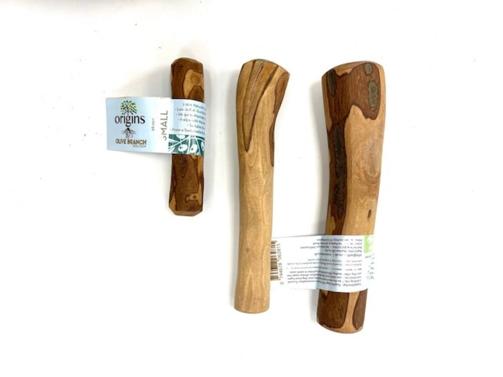 Olive Wood Natural Long Lasting Chew  -Various Sizes